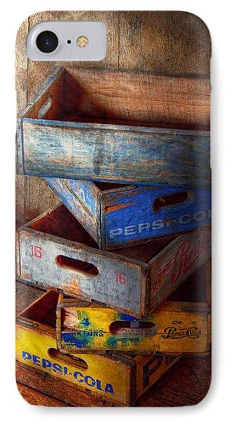 Food - Beverage - Pepsi-cola Boxes  IPhone Case by Mike Savad