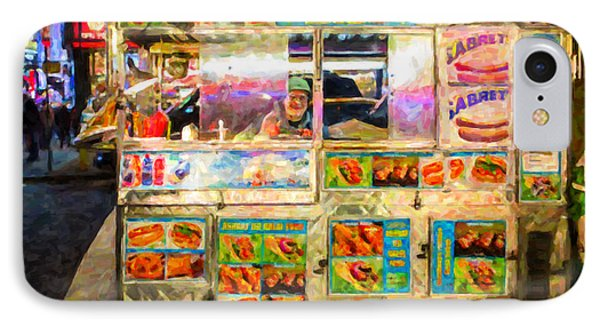 Food Cart In New York City Phone Case by Diane Diederich