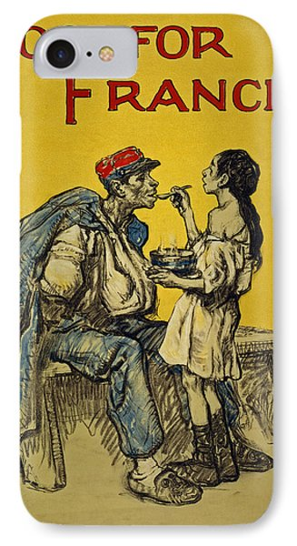 Food For France, 1918 IPhone Case by Francis Luis Mora
