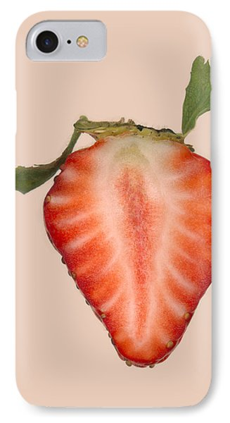 Food - Fruit - Slice Of Strawberry Phone Case by Mike Savad