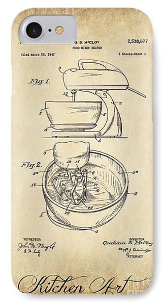 Food Mixer Patent Kitchen Art IPhone Case