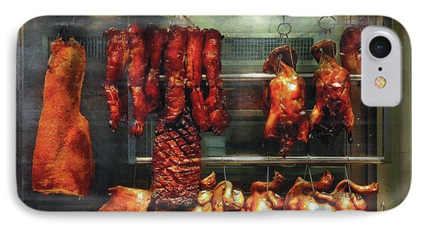 Food - Roast Meat For Sale Phone Case by Mike Savad