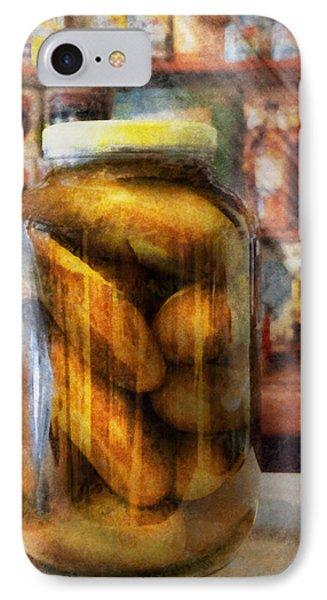 Food - Vegetable - A Jar Of Pickles Phone Case by Mike Savad