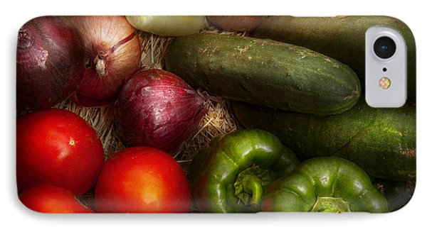 Food - Vegetables - Onions Tomatoes Peppers And Cucumbers Phone Case by Mike Savad