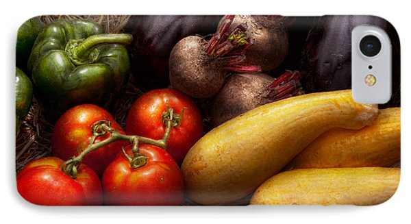 Food - Vegetables - Peppers Tomatoes Squash And Some Turnips Phone Case by Mike Savad