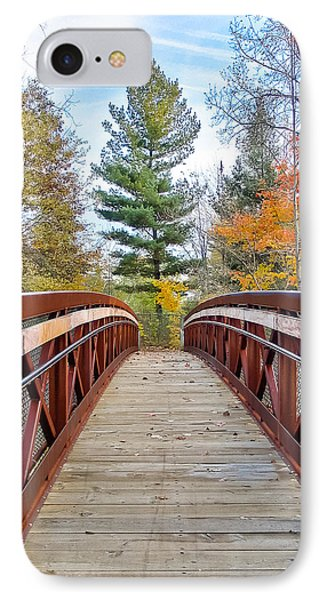 IPhone Case featuring the photograph Foot Bridge In Fall by Lars Lentz