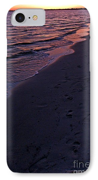 IPhone Case featuring the photograph Foot Prints Upon The Sands Of Time by Irma BACKELANT GALLERIES