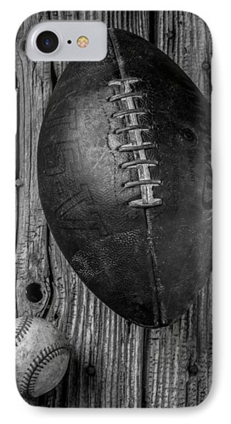 Football And Baseball IPhone Case by Garry Gay