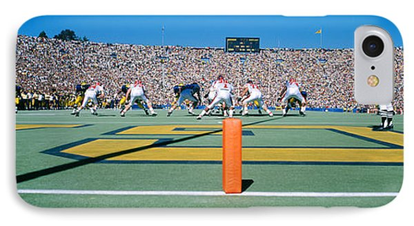 Football Game, University Of Michigan IPhone 7 Case by Panoramic Images