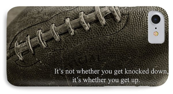 Football Get Up IPhone Case by Paul Ward