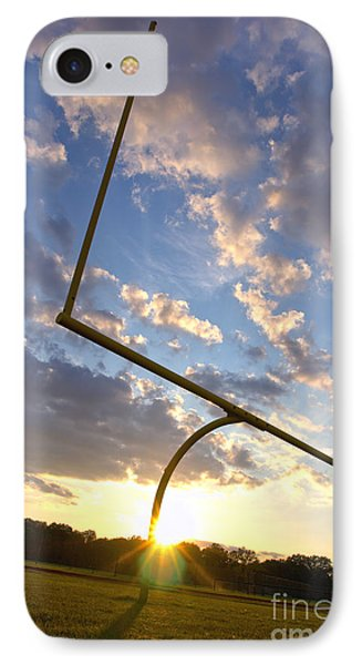 Football Goal At Sunset Phone Case by Olivier Le Queinec