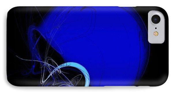 Football Helmet Blue Fractal Art 2 IPhone Case by Andee Design
