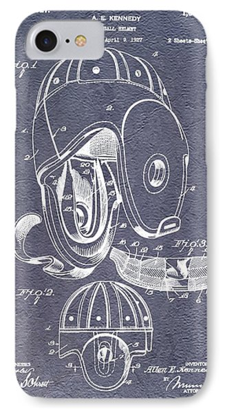 Football Helmet Patent IPhone Case by Dan Sproul