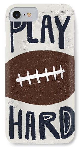 Football IPhone Case by Katie Doucette