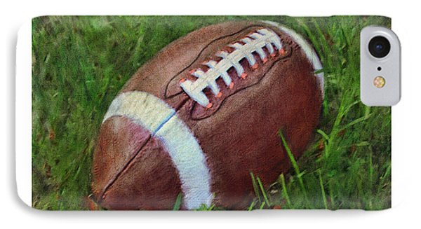 Football On Field IPhone Case by Craig Tinder