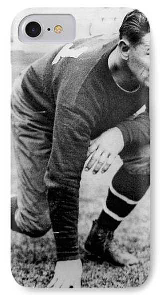 Football Player Jim Thorpe IPhone Case by Underwood Archives
