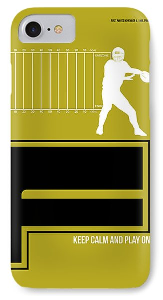 Football Poster IPhone Case by Naxart Studio