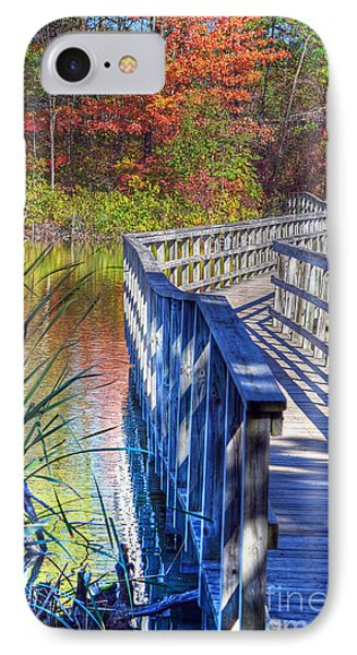 IPhone Case featuring the photograph Footbridge  by Rodney Campbell