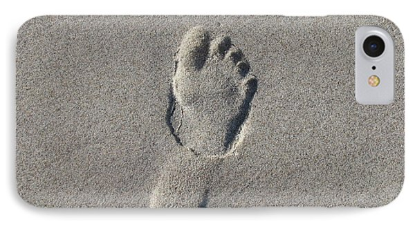 Footprint In The Sand IPhone Case