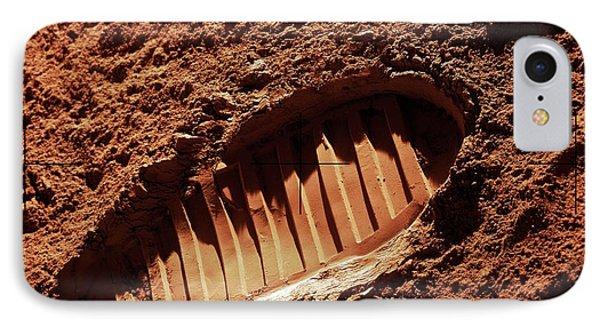 Footprint On Mars IPhone Case by Detlev Van Ravenswaay