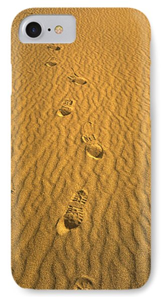 Footprints, Death Valley National Park IPhone Case