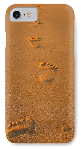 Footprints In The Sand IPhone Case by Andreas Thust