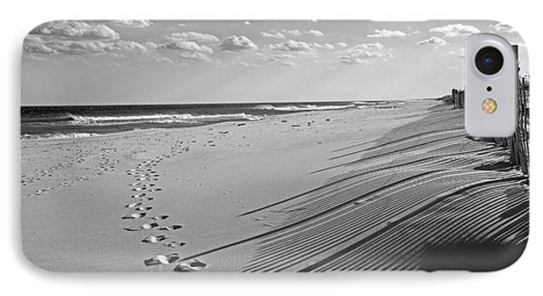 IPhone Case featuring the photograph Footprints In The Sand by Debra Fedchin