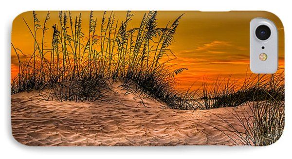 Footprints In The Sand IPhone Case by Marvin Spates