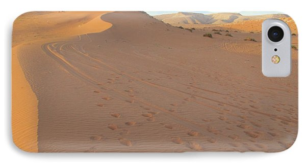 Footprints In The Sand Phone Case by Michael Waters