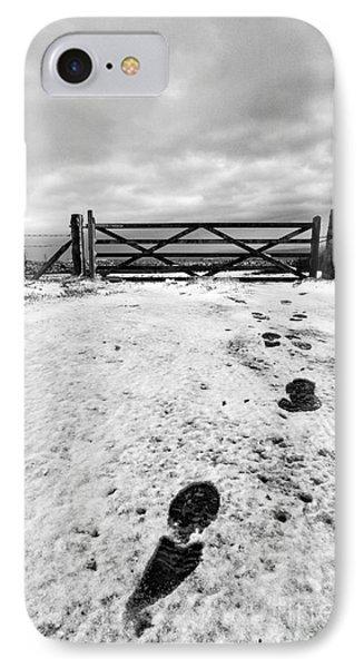 Footprints In The Snow Phone Case by John Farnan