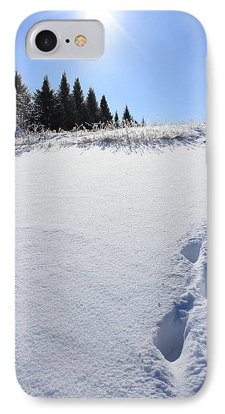 Footprints In The Snow IPhone Case by Penny Meyers