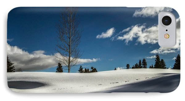 Footprints In The Snow IPhone Case by Randy Wood