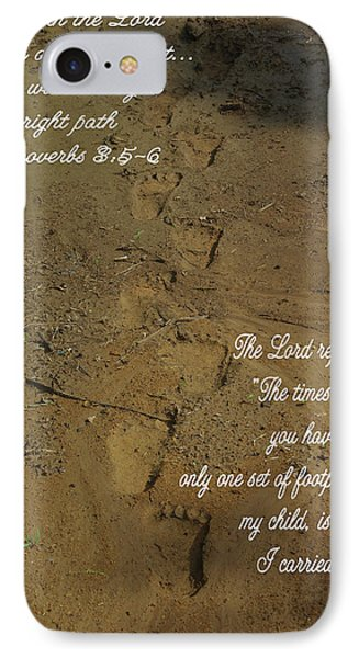 Footprints Proverbs IPhone Case by Robyn Stacey