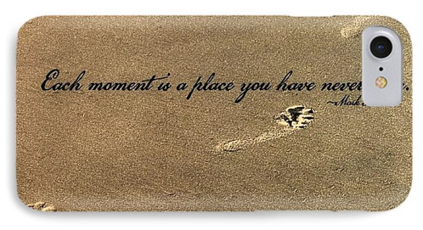 Footprints Quote Phone Case by JAMART Photography