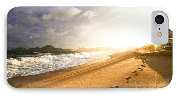 Footsteps In The Sand IPhone Case by Eti Reid