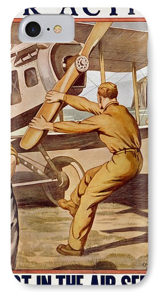 For Action, Enlist In The Air Service IPhone Case by Otho Cushing