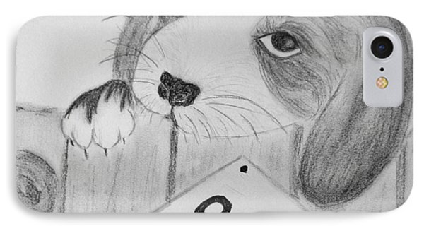 IPhone Case featuring the drawing For Sale by Celeste Manning