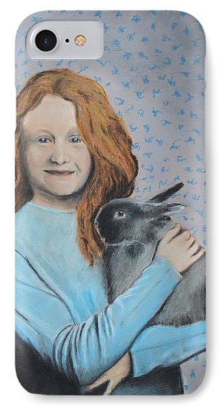 IPhone Case featuring the painting For The Love Of Bunny by Jeanne Fischer
