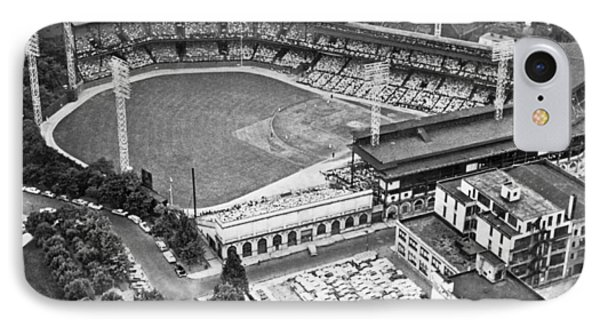 Forbes Field In Pittsburgh IPhone Case by Underwood Archives
