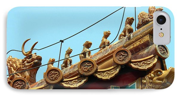 IPhone Case featuring the photograph Forbidden City Roof Adornment by Kay Gilley