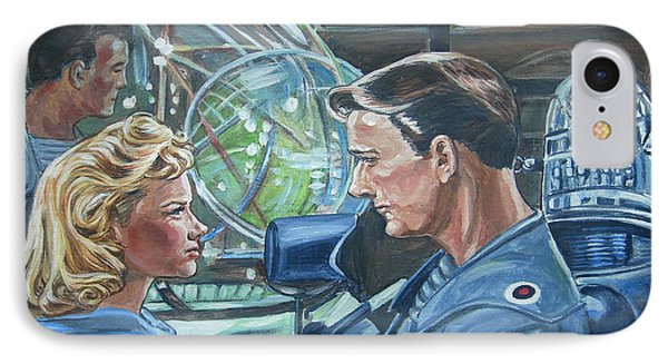 IPhone Case featuring the painting Forbidden Planet by Bryan Bustard
