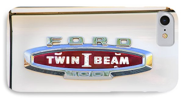 Ford 100 Twin I Beam Truck Emblem IPhone Case by Jill Reger