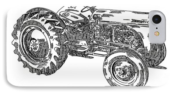 Ford 8n Tractor Phone Case by Ken Nickle
