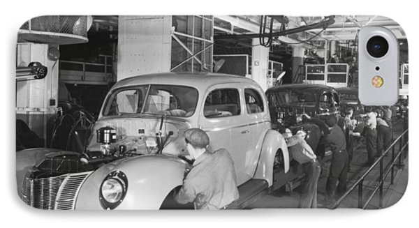 Ford Assembly Line IPhone Case by Underwood Archives
