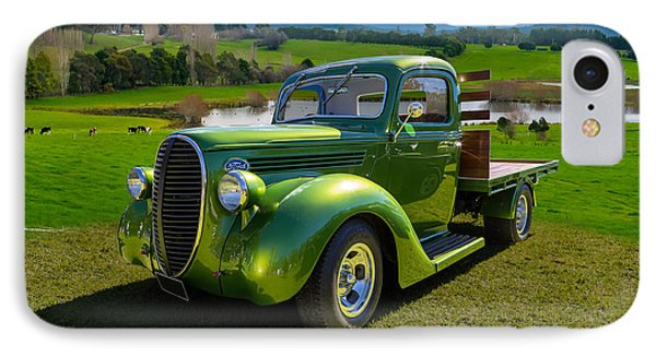 Ford Barrel Nose Pickup IPhone Case by Keith Hawley