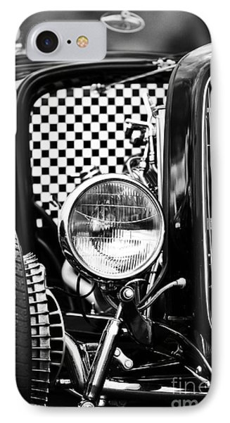 Ford Dragster Monochrome IPhone Case by Tim Gainey