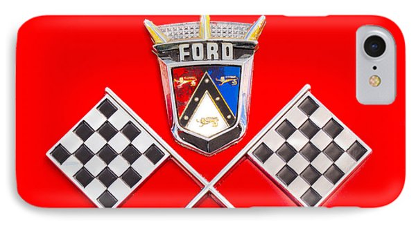 Ford Emblem IPhone Case by Jerry Fornarotto