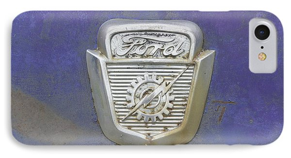 Ford Emblem IPhone Case by Laurie Perry