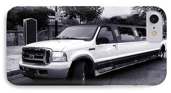 Ford Excursion Stretched Limo IPhone Case by Olivier Le Queinec