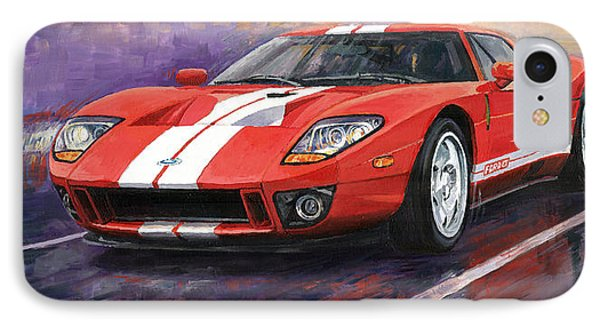 Car iPhone 7 Case - Ford Gt 2005 by Yuriy Shevchuk